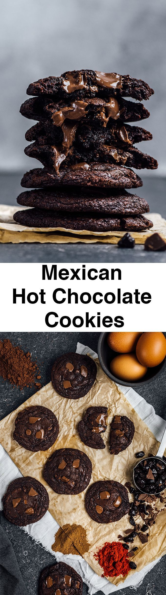 Mexican Hot Chocolate Cookies are literally the best chocolate cookies I've ever tasted and made. Super chewy on the edges, super soft on the center and loaded with chocolate with a spicy kick.