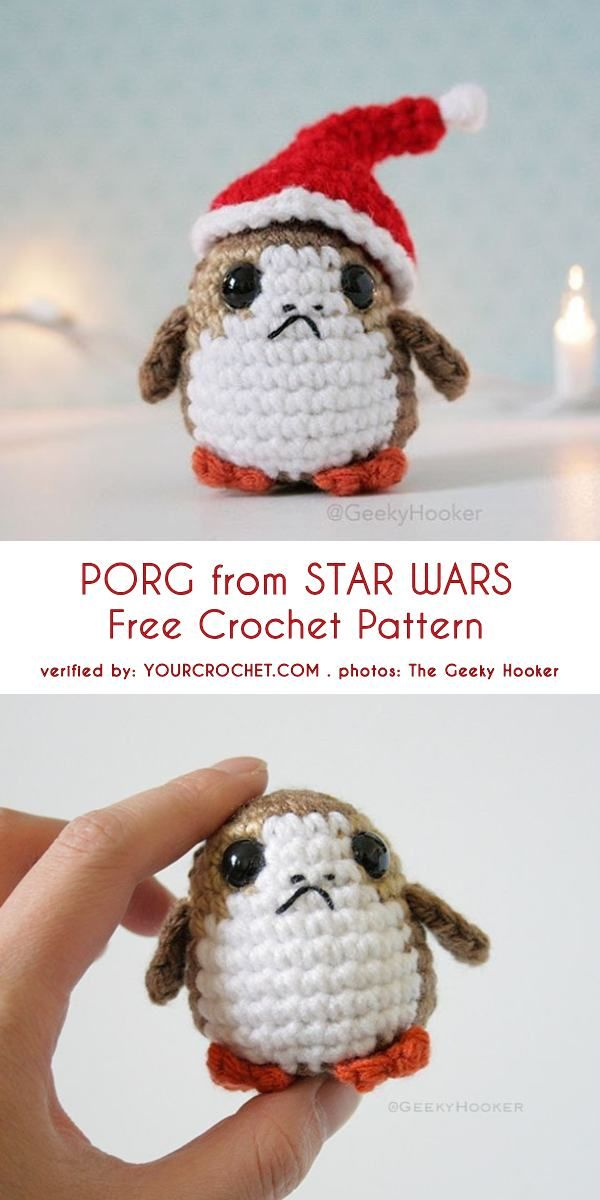 Amigurumi Porg from Star Wars: The Last Jedi Free Crochet Pattern ...