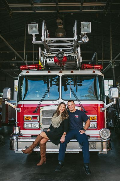 Firefighter engagement photo