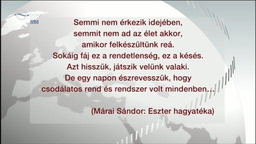 Márai Sándor: Eszter hagyatéka részlet