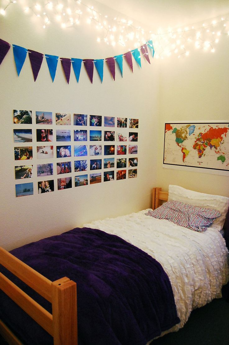 M s de 25 ideas incre bles sobre dormitorio estudiantil en for Cuartos de ninas con luces