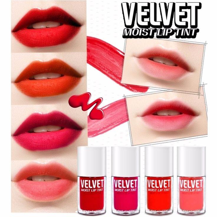 Onsaemeein Long Lasting Velvet Moist Lip Tint 4 Colors #Onsaemeein