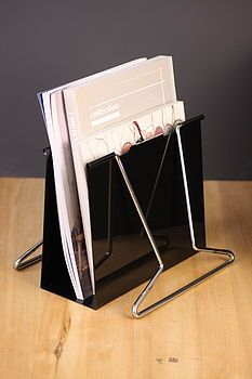 Yeah, that's fun! An oversized clip as a file rack would be cute on the desk.