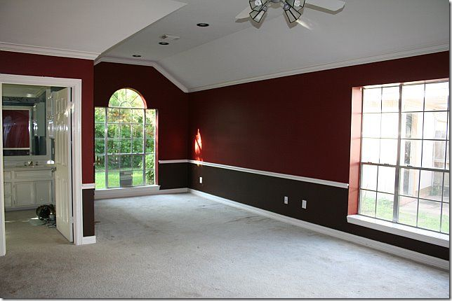 Red And Black 2 Tone Bedroom | Home Decor And Ideas | Pinterest | Living  Room Paint, Room Paint And Red Part 33