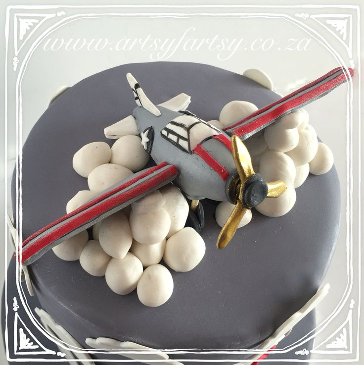 Sugar Airplane Cake #sugarairplanecake