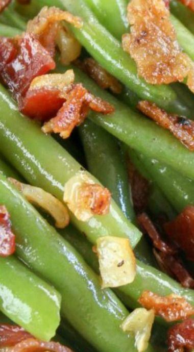 Bacon Garlic Green Beans