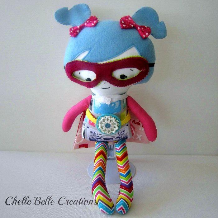 Girl Superhero Soft Doll | Chelle Belle | madeit.com.au