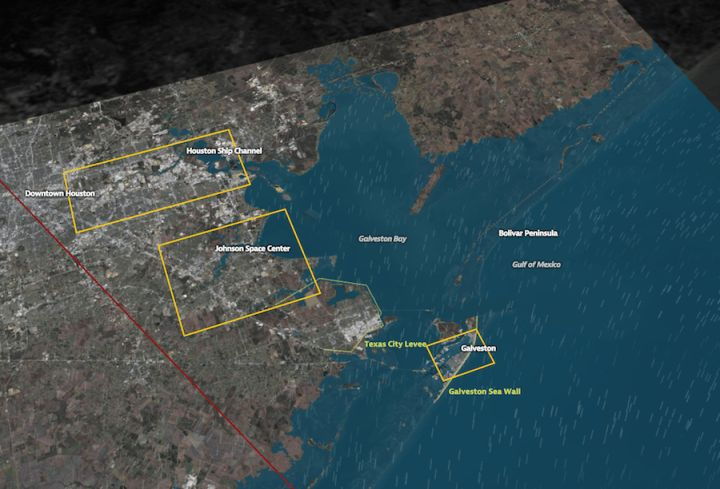 Hurricane simulations show severe flooding in Houston by Nathan Yau