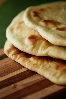 Home made naan-Indian flatbread