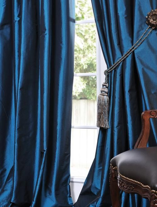 faux solid taffeta drapes decorative silk valances…