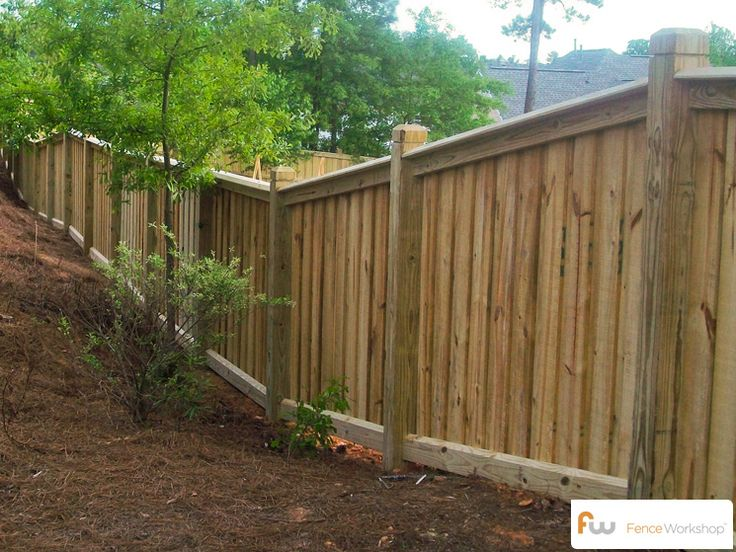1000 Ideas About Wood Fence Installation On Pinterest