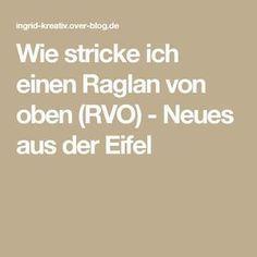 Wie stricke ich einen Raglan von oben (RVO) - Neues aus der Eifel