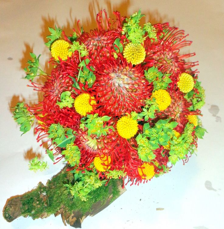 Poze buchet mireasa din flori exotice