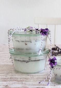 Lavendel-Duftkerzen