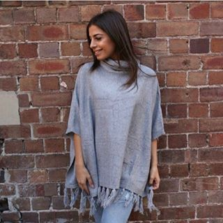 Pink Diamond High Neck Poncho in Grey is now in stock. This is a perfect style for the transition into winter ☃️❄️ #winterfashion #winter #fashion