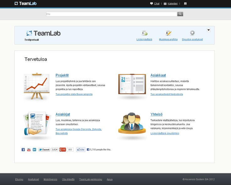 The Finnish version of TeamLab portals is coming soon!