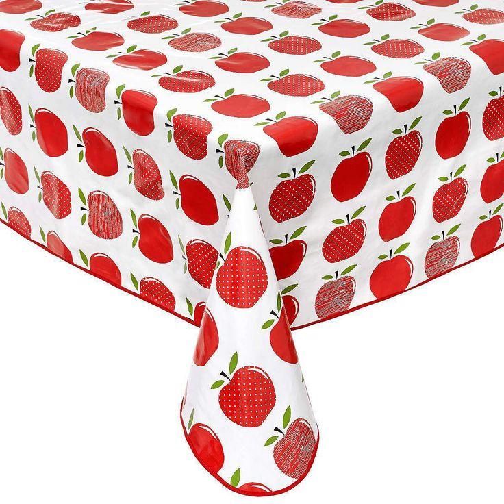 WATERPROOF Wachstischdecke Äpfel    Tischdecken aus Stoff sind schön - aber draußen, bei Kindern und einen turbulentem Haushalt mit viel Arbeit verbunden. Einfacher geht's mit der pflegeleichten Variante aus PVC-beschichtetem Faserflies. Die Oberfläche ist wasserabweisend und mit einem feuchten Tuch im Handumdrehen zu reinigen. In verschiedenen Größen und Dekoren erhältlich.    Größe: ca. 140 x...