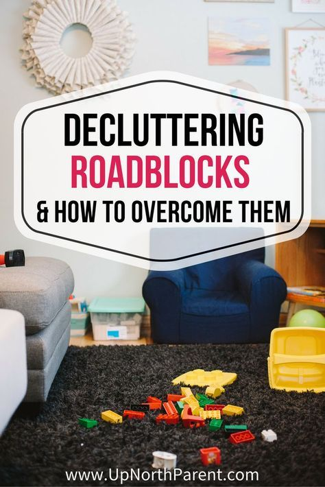 The 8 common roadblocks to decluttering your home and tips on how to overcome them, even when it feels impossible! You CAN simplify your home and your life, and we're here to help! #simplify #declutter #decluttering #organization #simplifying #simplicity