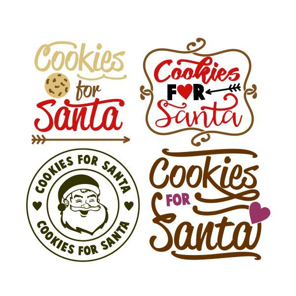 Cookies for Santa Cuttable Design] Cut File. Vector, Clipart, Digital Scrapbooking Download, Available in JPEG, PDF, EPS, DXF and SVG. Works with Cricut, Design Space, Cuts A Lot, Make the Cut!, Inkscape, CorelDraw, Adobe Illustrator, Silhouette Cameo, Brother ScanNCut and other software.
