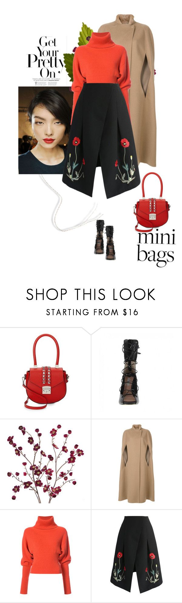 """""""Get your pretty on!"""" by laonela ❤ liked on Polyvore featuring Mario Valentino, Cost Plus World Market, Agnona, Creatures of the Wind and Chicwish"""