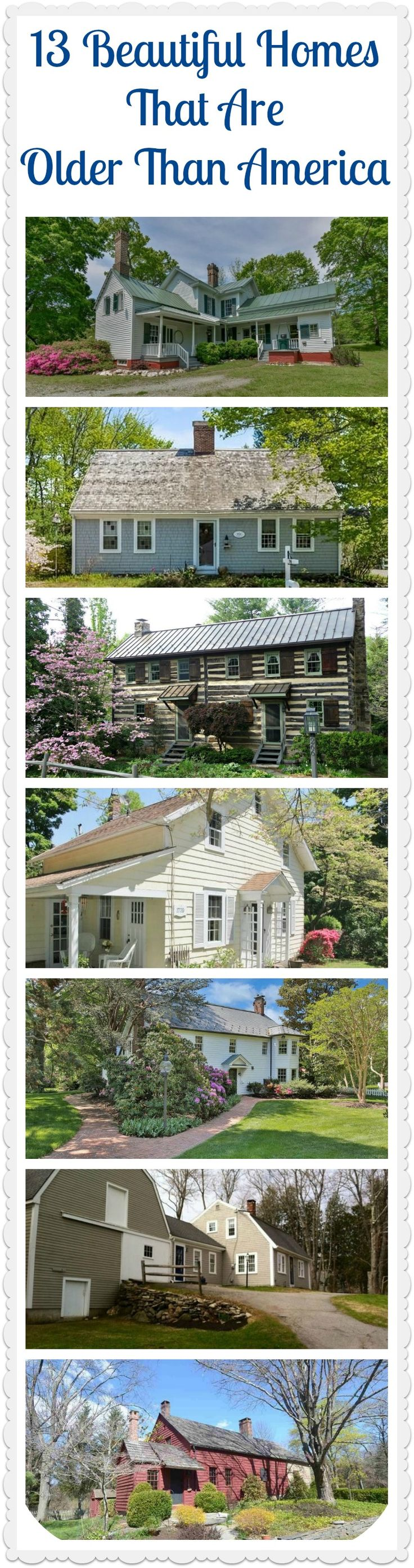 We've come along way since Colonial times, but these historic houses still make us starry-eyed.