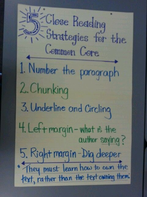 Close Reading astrategies- use pencils and highlighters for students to annotate