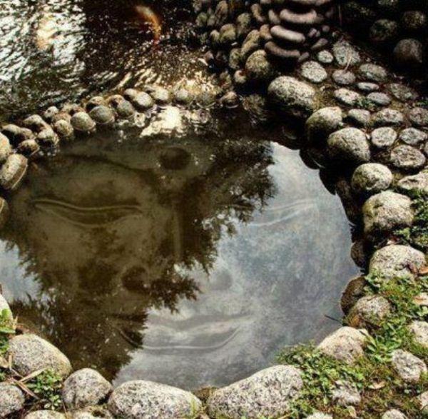 Water fountains buddha face zen garten anlegen die for Zen garten anlegen