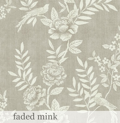 Chinoiserie Chalk wallpaper in Faded Mink by Sara Hardaker