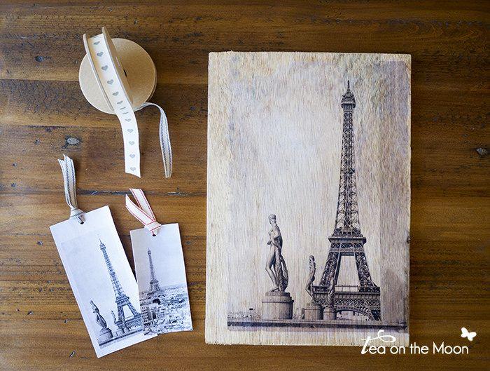 Cómo transferir una foto a madera o lienzo. weww.teaonthemoon.com