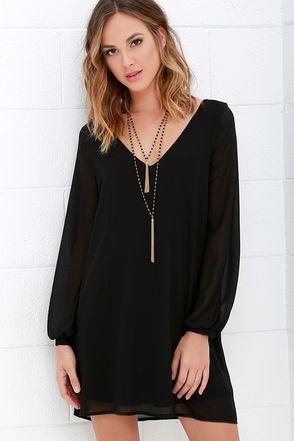 17 Best ideas about Black Long Sleeve Dress on Pinterest | Black ...