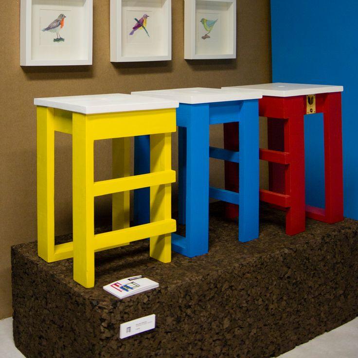 Handmade stools by varas verdes.