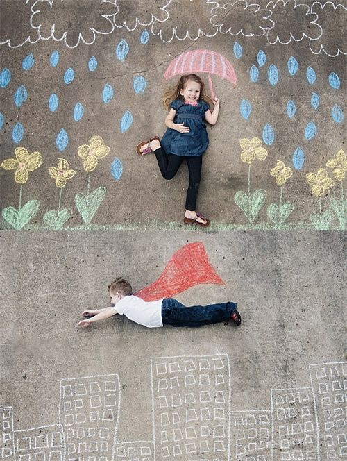 These chalk photo ideas look like so much fun!