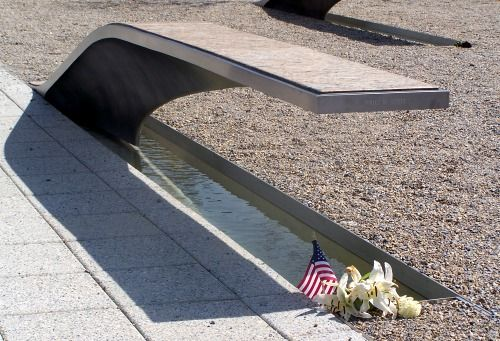 The Pentagon Memorial: The Pentagon Memorial Cantilevered Benches