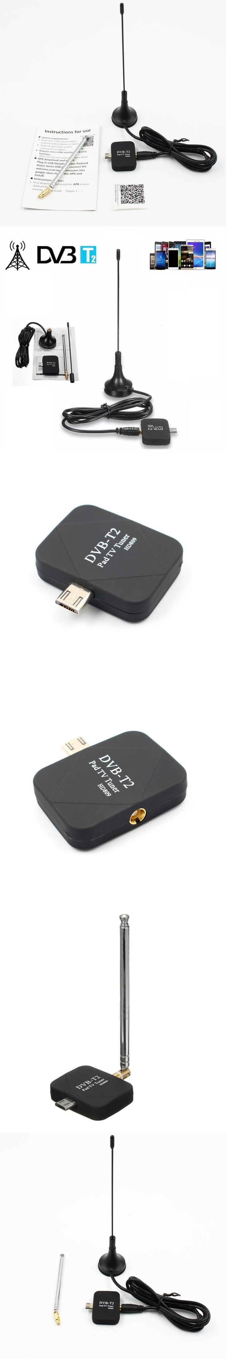 DVB-T2 DVB-T TV Dongle Receiver USB HD digital TV tuner Stick DVB T/T2/C Satellite Receiver with Antenna FM Russia Europe CHT01