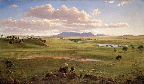 Stoneleigh, Beaufort near Ararat, Victoria, 1866 by Eugene von Guerard