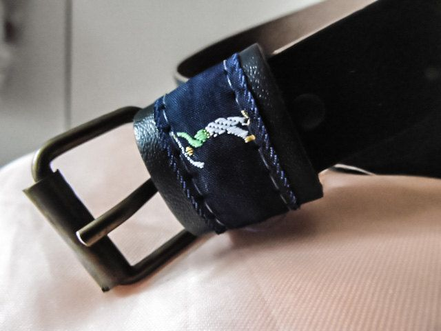 Golf belt for Women,navy blue Leather excellent condition Length 38 inches /Golf ceinture Femme, Cuir bleu marine excellent état 38 pouces de la boutique Vintagemandalitashop sur Etsy