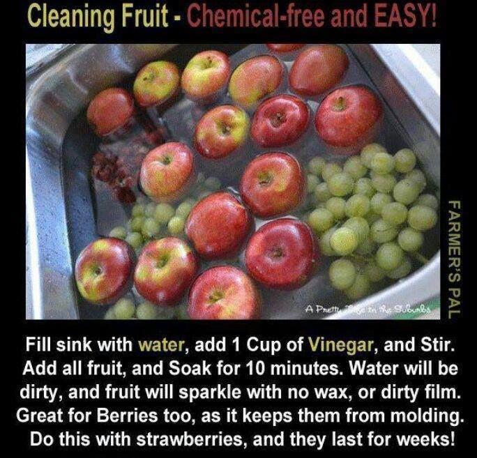 Essig, um Obst & Gemüse zu waschen