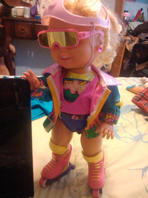 Got my California Roller Baby for Christmas 1992. She was supposed to be able to roller blade standing up but usually fell down.