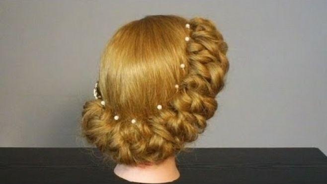 Gelin Yan Örgülü Kabarık Saç Modeli Uygulaması - Özel günler için veya günlük evde yapabileceğiniz gelin yan örgülü kabarık saç modeli tekniği (Wedding Prom Hairstyles Video)