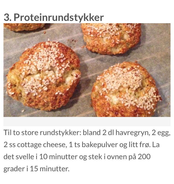 Proteinrundstykker på 30 min