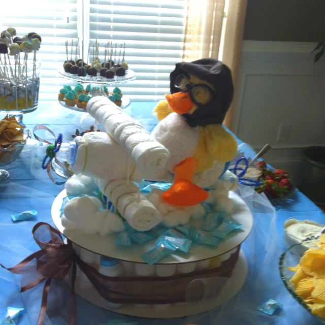 Diaper airplane cake for baby boy airplane themed shower!!!