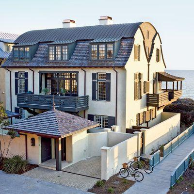 Rosemary Beach Dutch-Colonial House Exterior