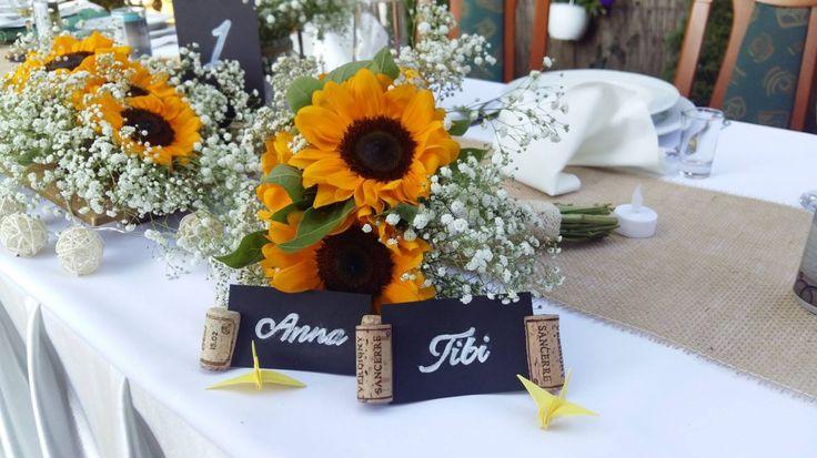 Esküvő – Vintage World #esküvő #wedding #napraforgó #sunflower