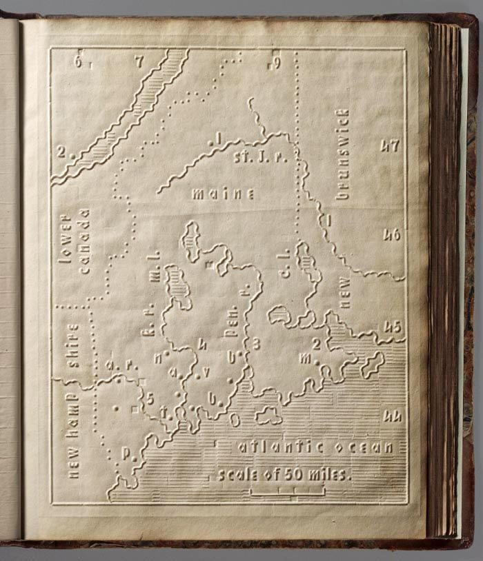 David Rumsey Historical Map Collection. Atlas for The Blind,1837.