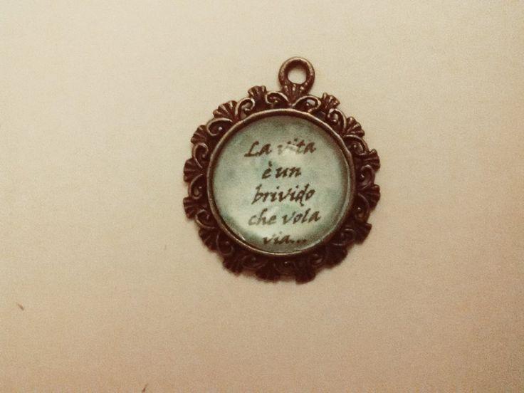 collana con cammeo personalizzabile con frasi, by Roba Da Donne Accessori, 8,00 € su misshobby.com