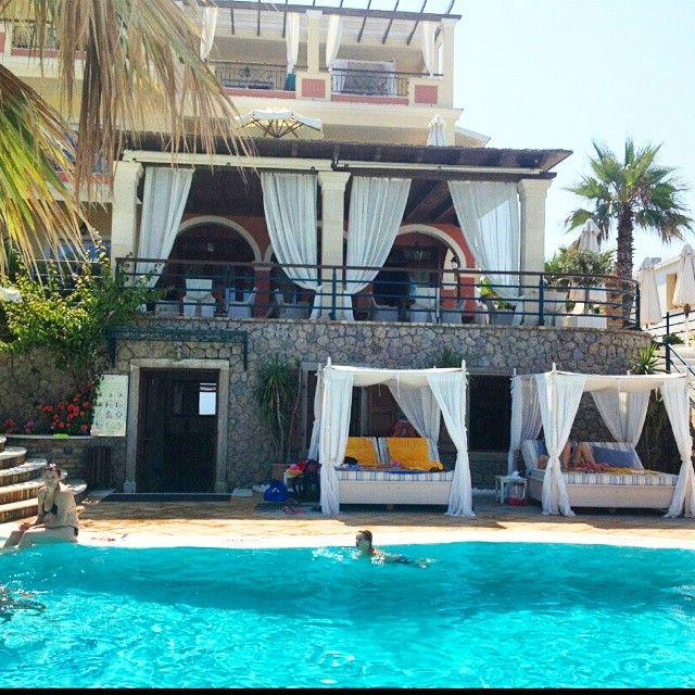 Relax by the #pool..! #DelfinoBlu #Corfu  Photo credits: @nina.kvalheim