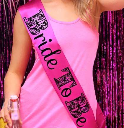 Lingerie Shower Gift: Glitter Sash   Bride to Be sash   The House of Bachelorette