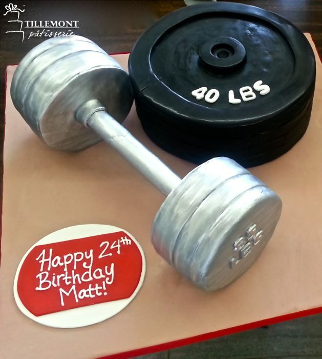 Dumbell and Weight 3D Fun Cakes | Patisserie Tillemont | Montreal