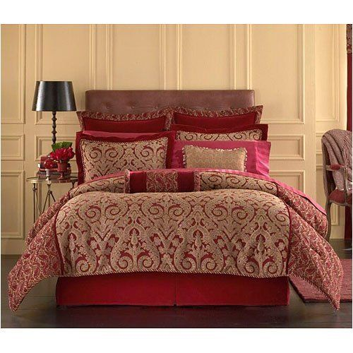 Queen Red And Gold Comforter Set By Springmaid, Http://www