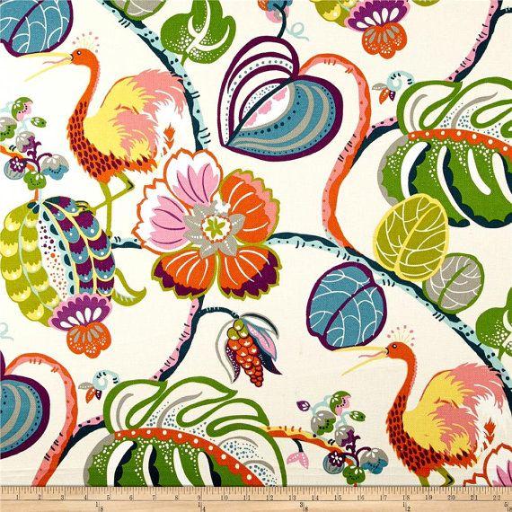 Floral Curtains. HGTV Genevieve Gorder Tropical by BellasHomeDecor
